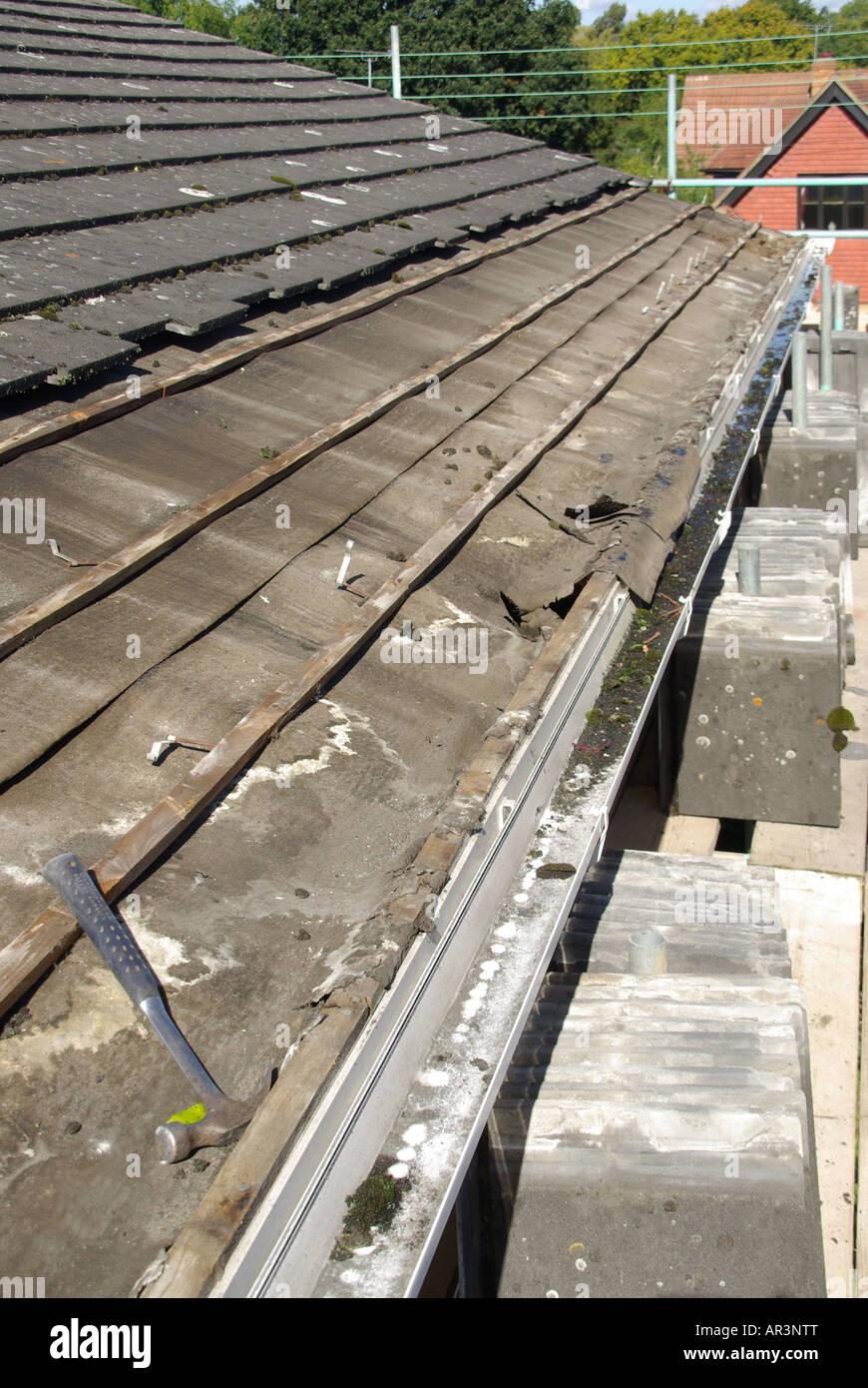 Roof Repair Required To Under Felt Battens Below Eaves