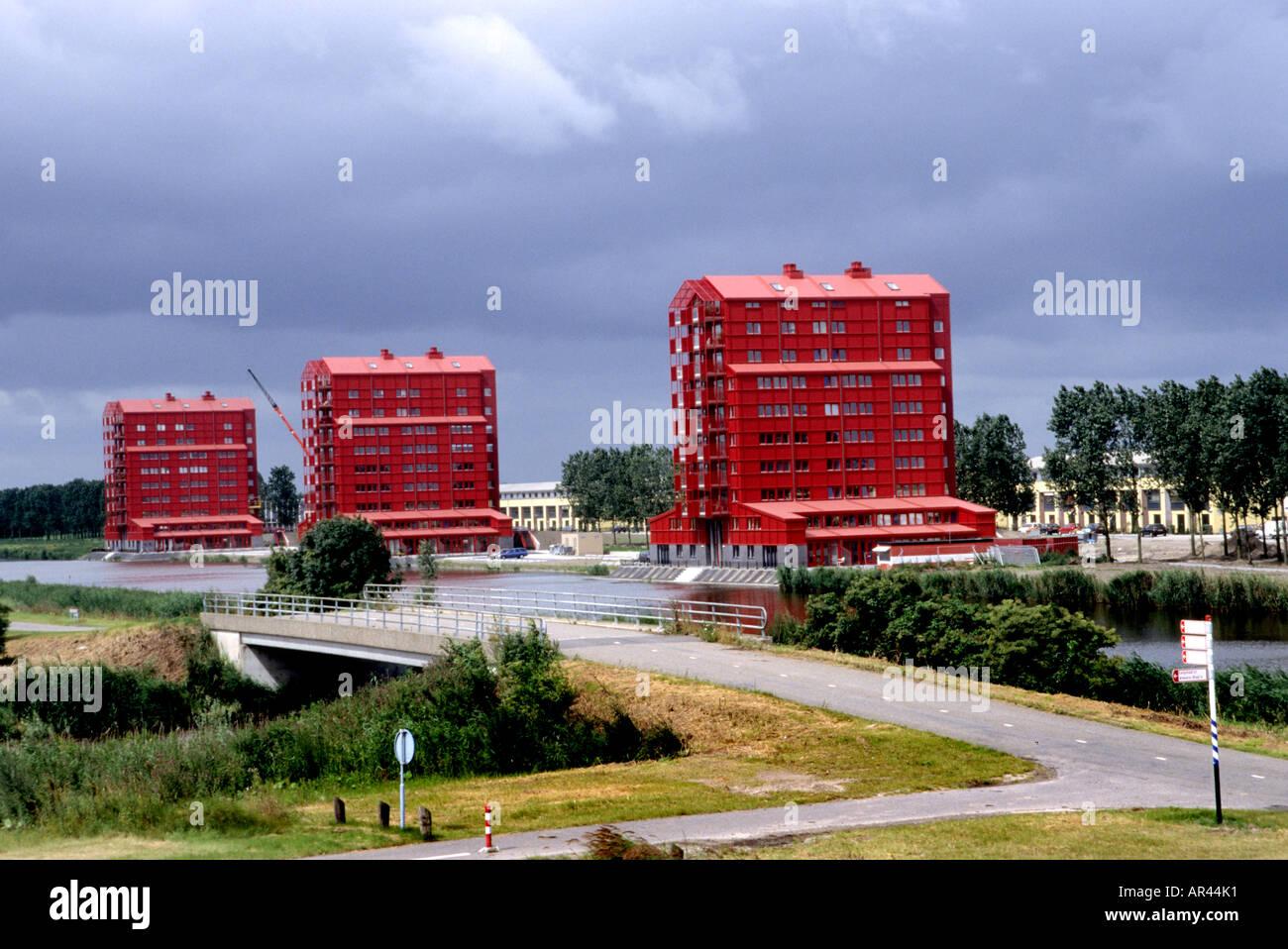 Modern Architecture Netherlands almere dutch modern architecture town netherlands stock photo