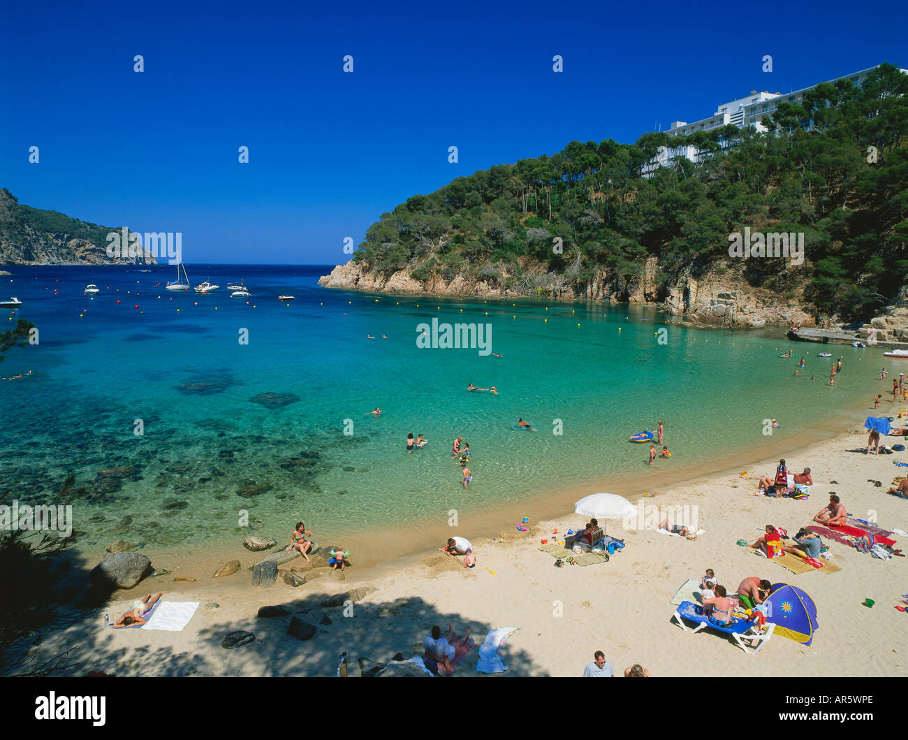 Beach cala aiguablava near begur costa brava province - Aiguablava costa brava ...