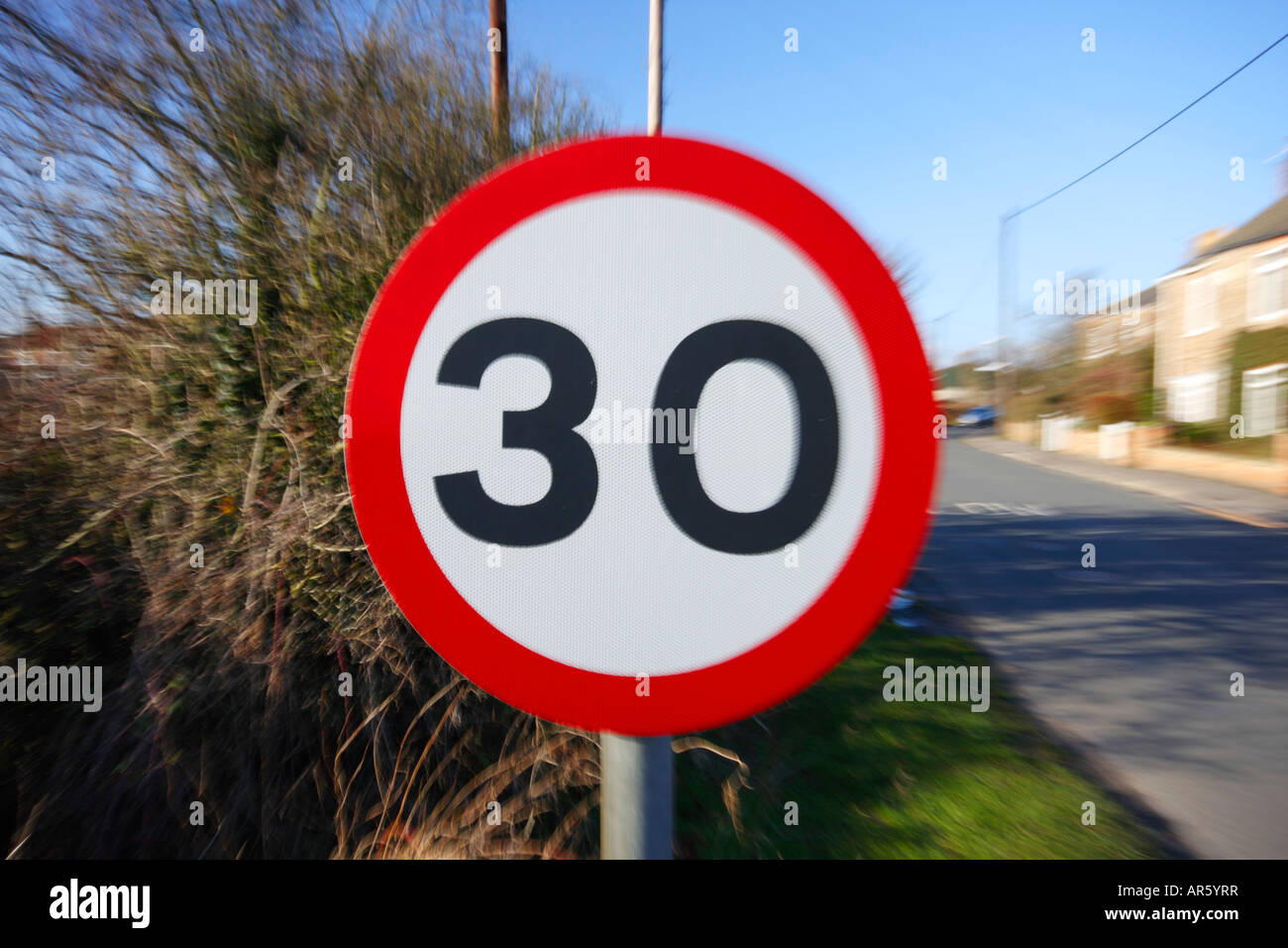 Thirty (30) Miles Per Hour Speed Sign Stock Photo, Royalty Free ...