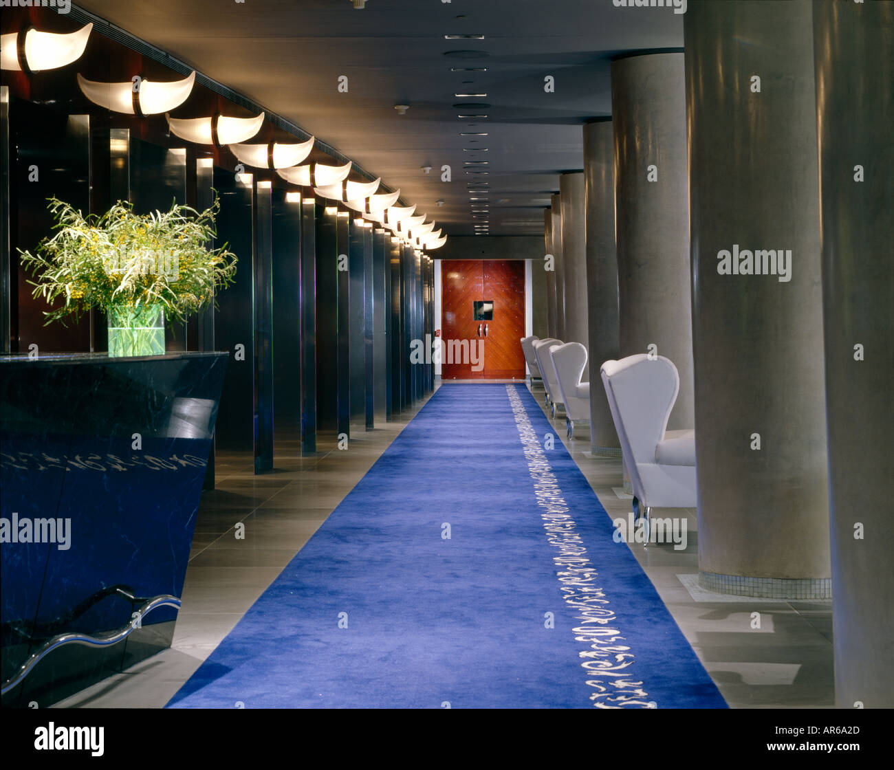 the royalton hotel new york 1988 2007 architect philippe starck stock photo royalty free. Black Bedroom Furniture Sets. Home Design Ideas