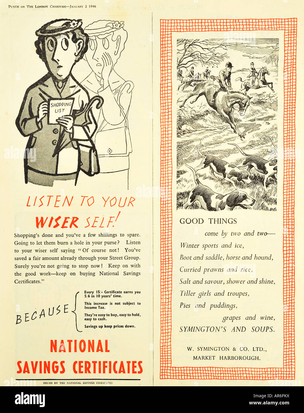 National savings certificates and symingtons soups advertisements national savings certificates and symingtons soups advertisements from 1946 for editorial use only 1betcityfo Choice Image