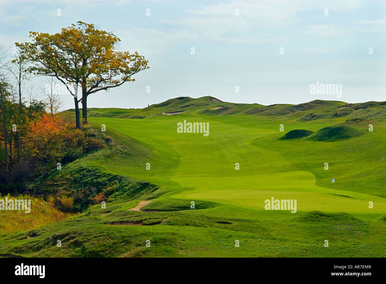 Whistling Straits Golf Course Kohler Wisconsin USA, 9th hole Stock ...