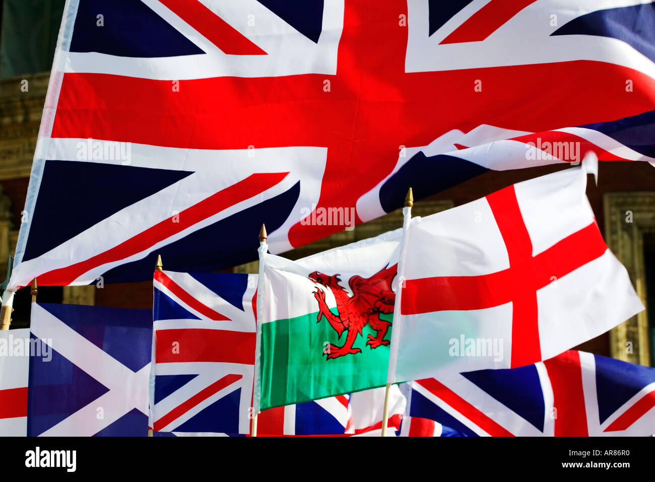 assortment of british flags st george u0027s flag saltire welsh and