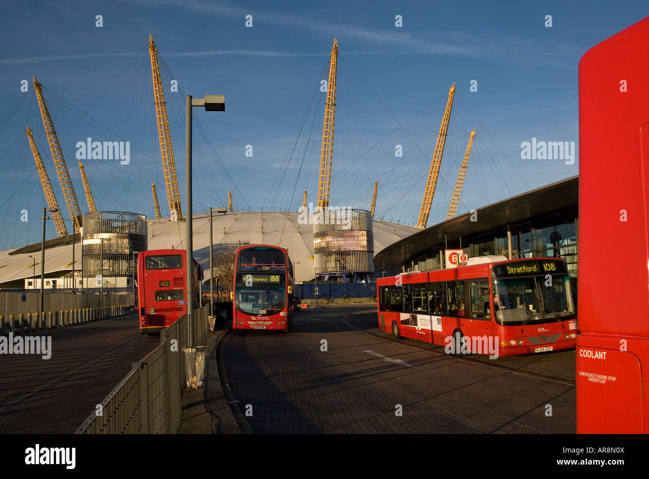 red london buses outside north greenwich tube station. Black Bedroom Furniture Sets. Home Design Ideas