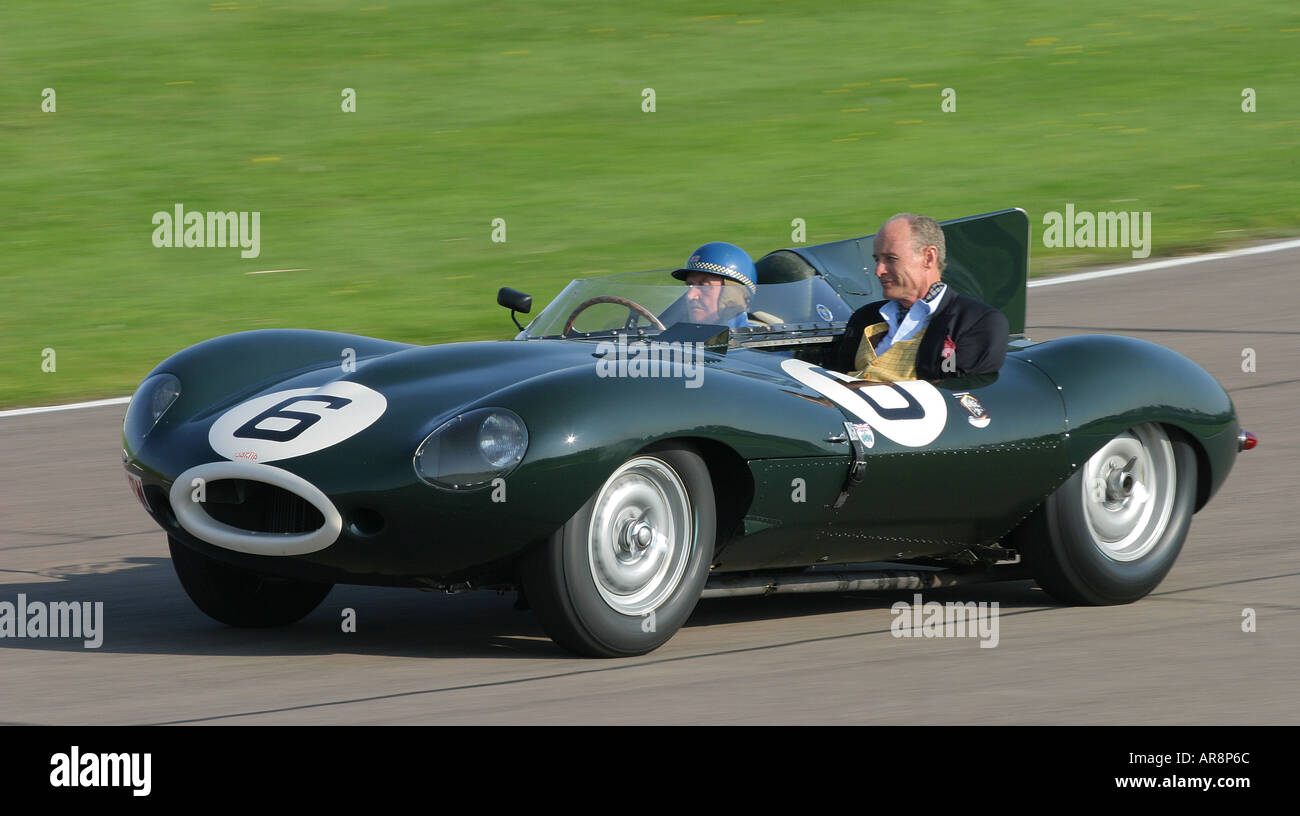 1955 jaguar d type longnose at goodwood revival sussex uk stock photo 5215851 alamy. Black Bedroom Furniture Sets. Home Design Ideas