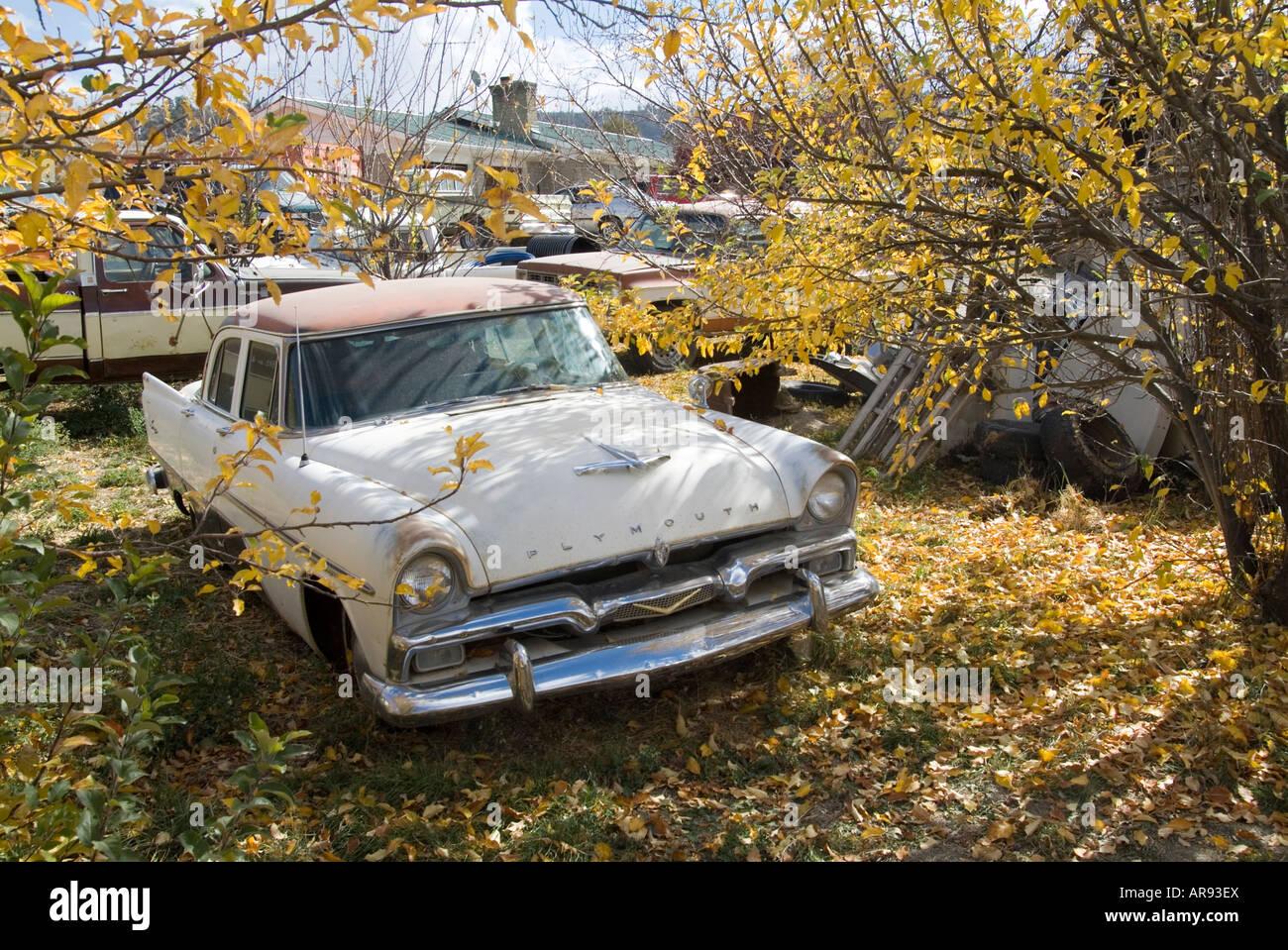 Classic Car Junk Yard Scrap Retro S Old Stock Photo