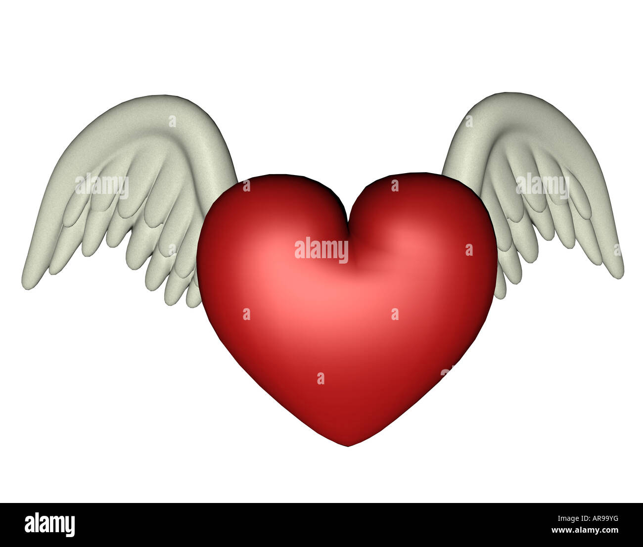 Heart with wings as a symbol of love stock photo 15981267 alamy heart with wings as a symbol of love biocorpaavc Images