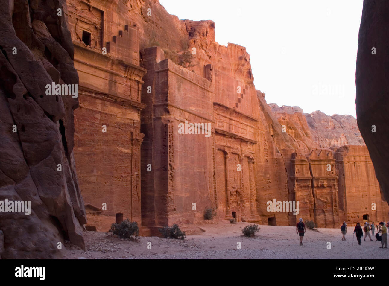 Siq Esterno Petra Jordan Stock Photo Royalty Free Image