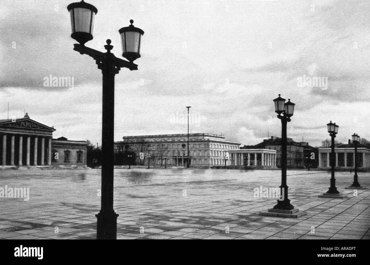 Geography Travel Germany Munich Konigsplatz View 1930s 30s Nazi Architecture Paul Ludwig Troost Third Reich Nazism