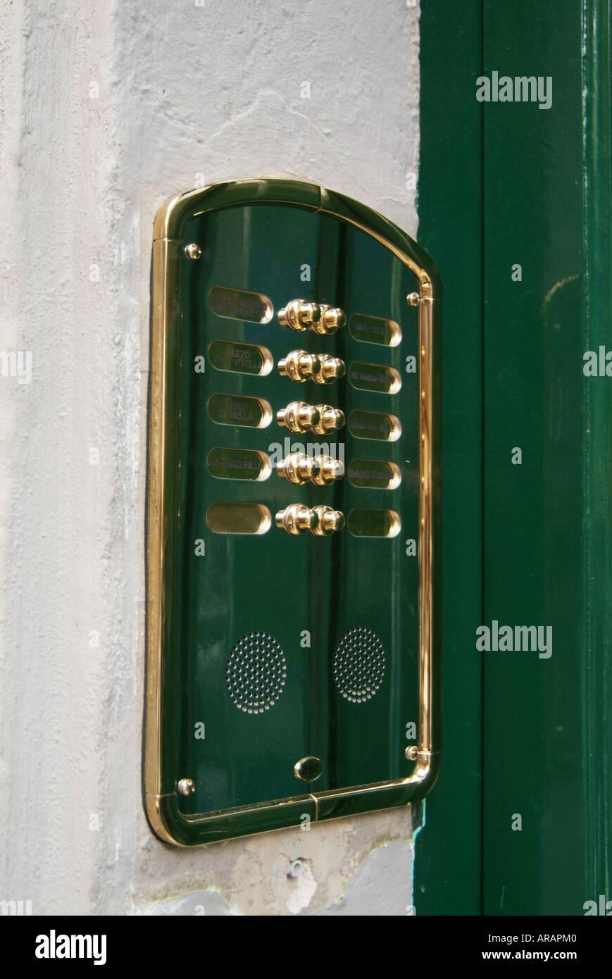 door bell intercom buzzer apartment flat block off