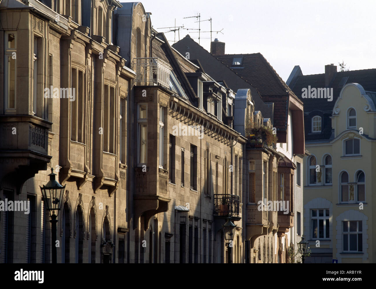 Häuserfassaden Modern düsseldorf oberkassel häuserfassade stock photo royalty free