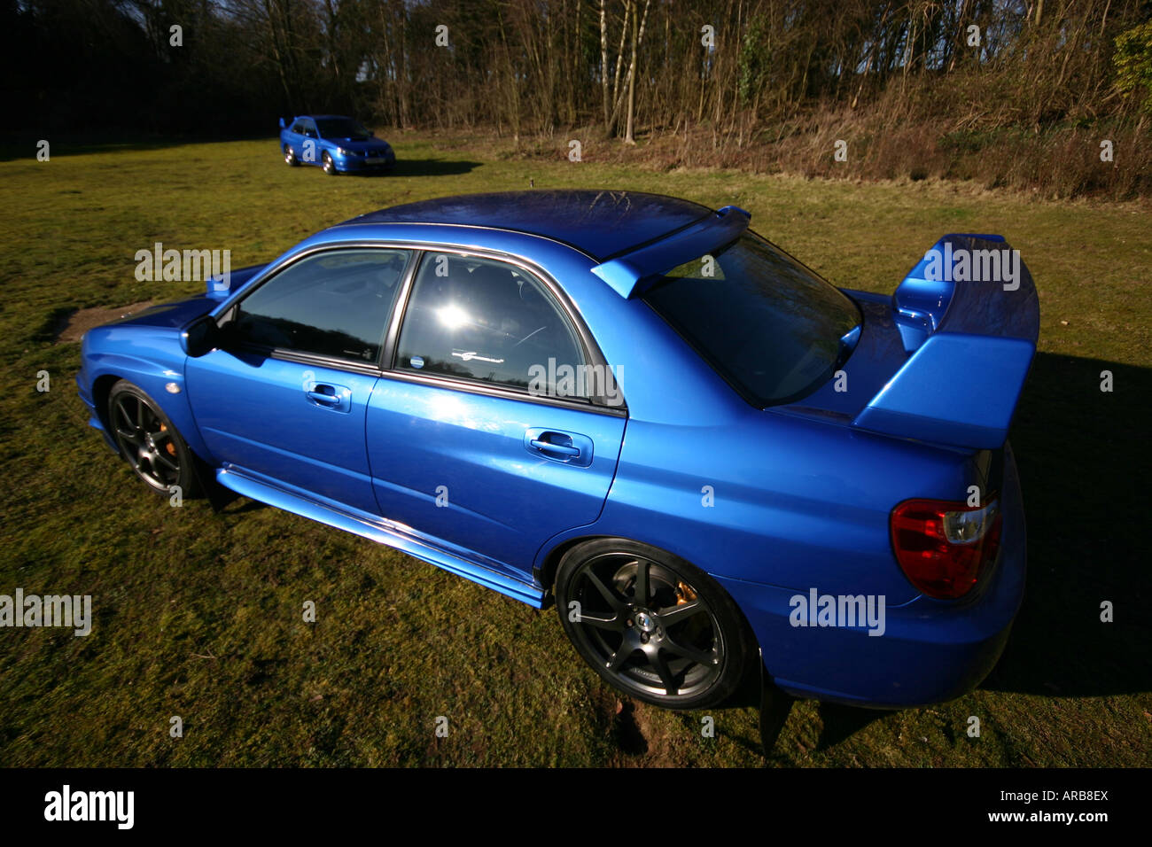 subaru impreza turbo blue saloon 39 family car 39 fast quick racer japan stock photo 15999601 alamy. Black Bedroom Furniture Sets. Home Design Ideas