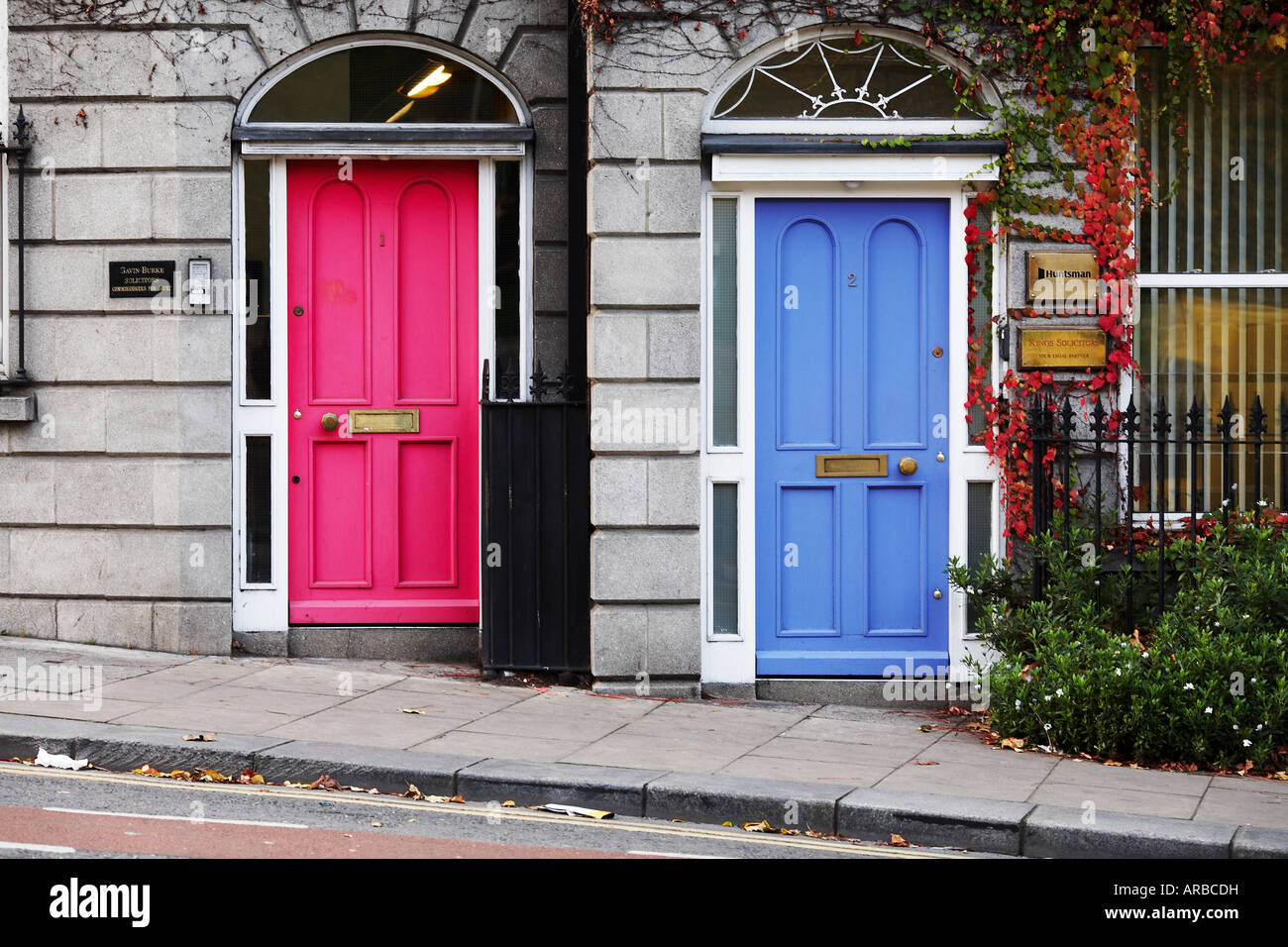 Colored Doors in The City of Dublin County Dublin Republic of Ireland Europe & Colored Doors in The City of Dublin County Dublin Republic of ...