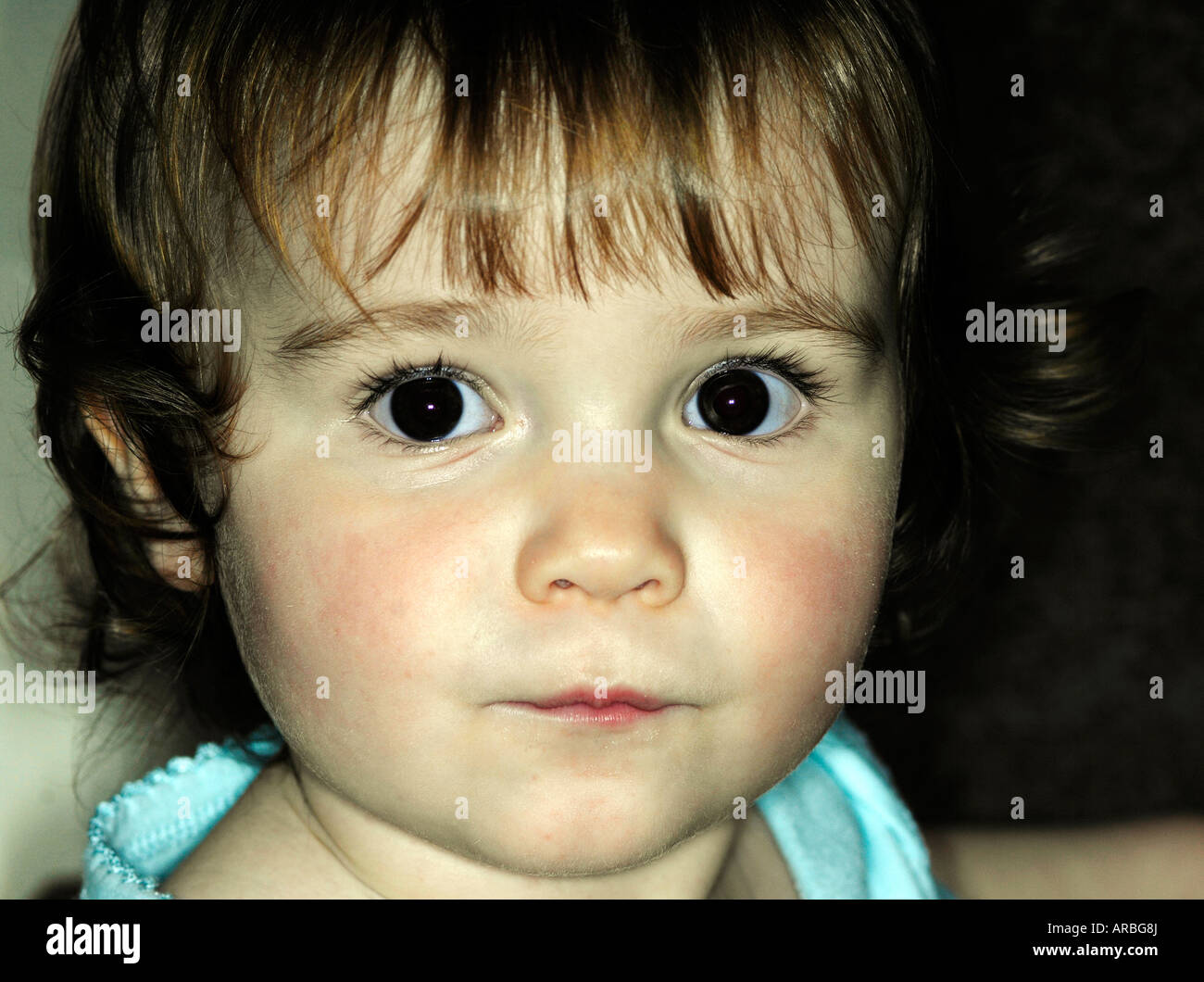 Beautiful Baby Girl With Brown Eyes