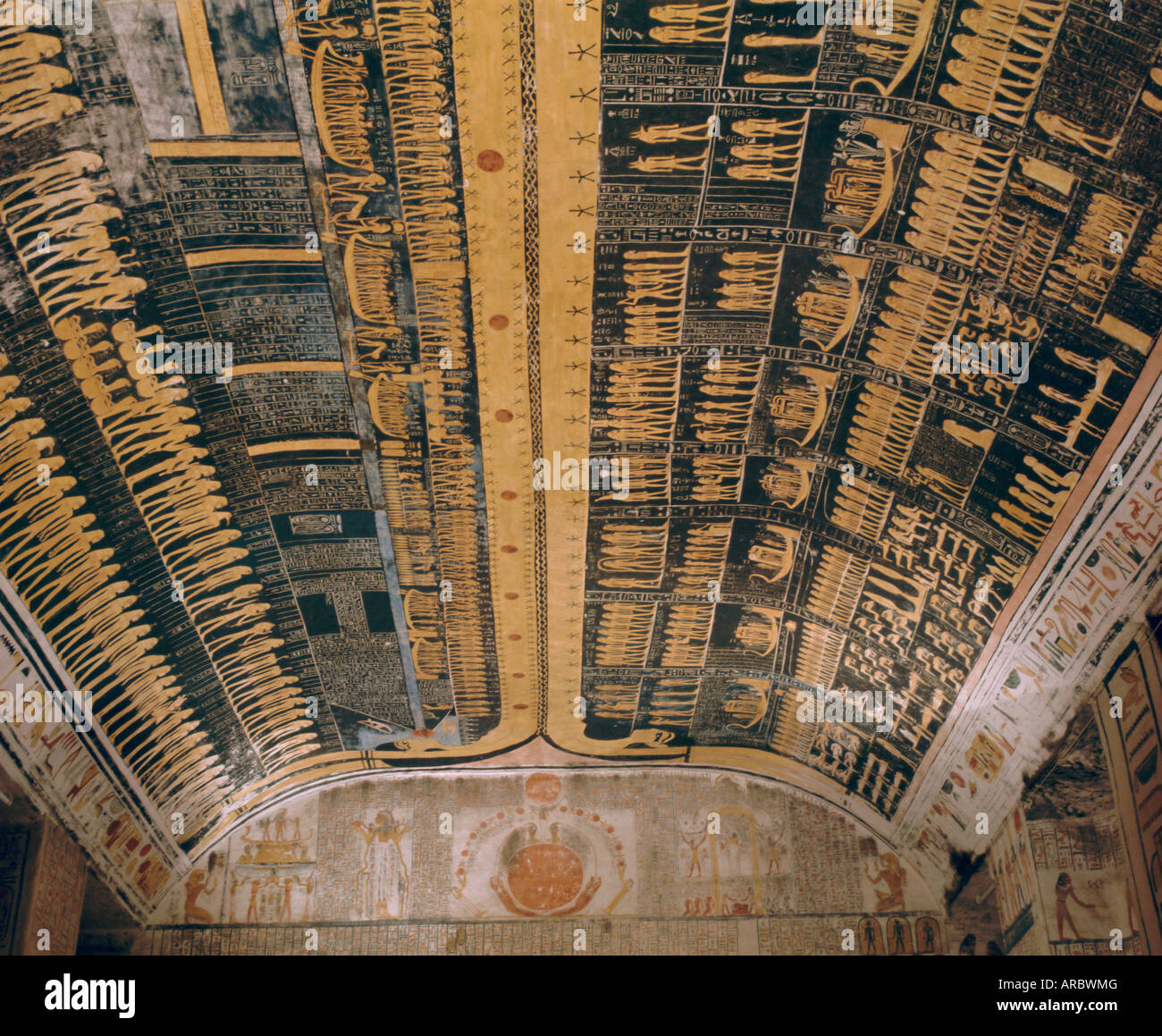 Ramses VI tomb, Valley of the Kings, Thebes, Egypt Stock ...