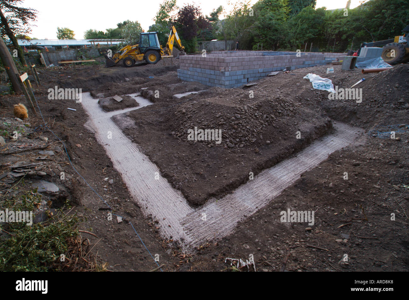 Foundations dug for a new build house in the uk scotland for New home foundation