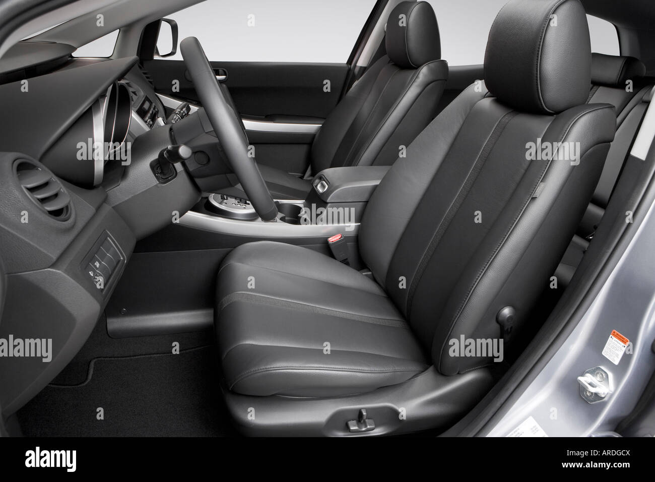 2007 mazda cx-7 grand touring in gray - front seats stock photo