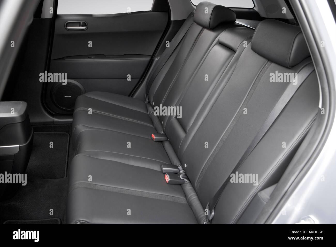 2007 mazda cx-7 grand touring in gray - rear seats stock photo