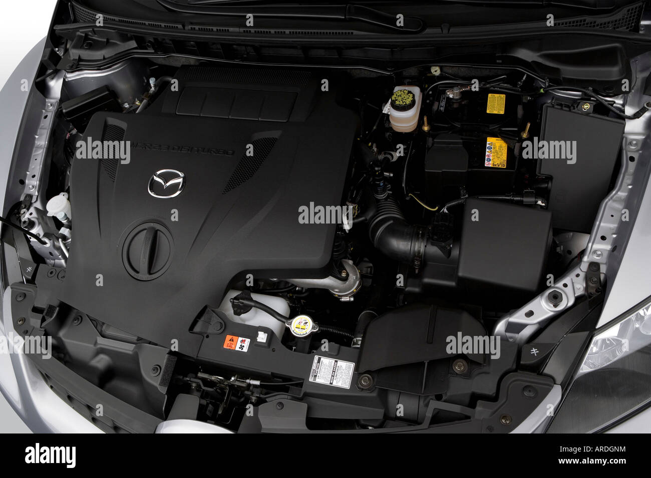 2007 mazda cx 7 grand touring in gray engine stock photo. Black Bedroom Furniture Sets. Home Design Ideas
