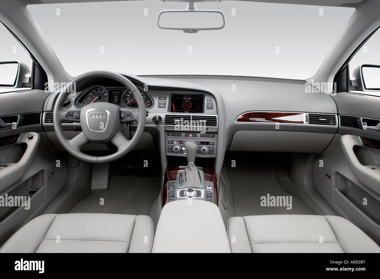2006 Audi A6 Avant 32 Quattro In Gray  Dashboard, Center Console, Gear  Shifter View