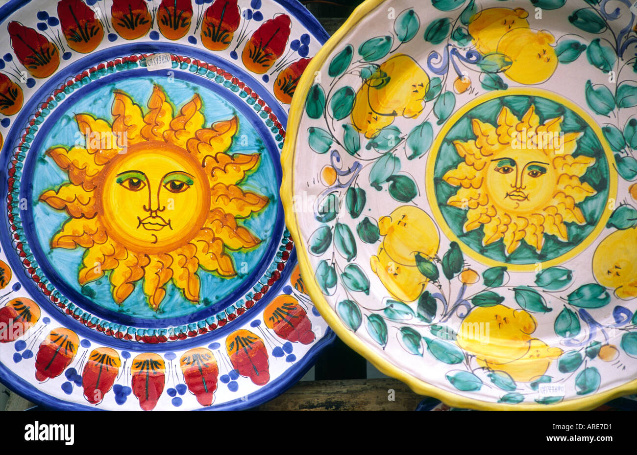 Hand Painted Fruits Plate Portugal