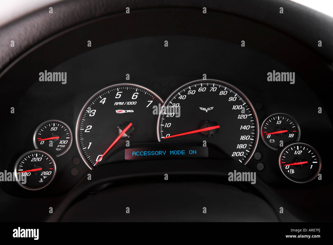 2006 Chevrolet Corvette Z06 In Orange Speedometer