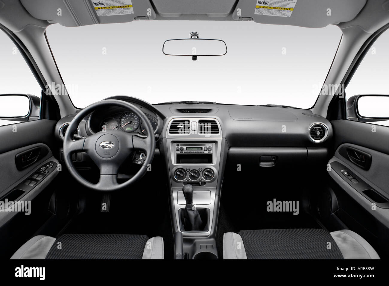 2006 subaru impreza 2.5i in gray - dashboard, center console, gear