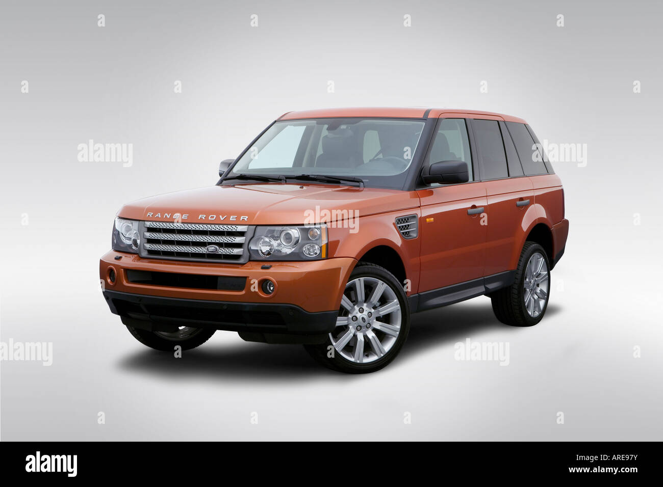 2006 land rover range rover sport supercharged in orange front stock photo royalty free image. Black Bedroom Furniture Sets. Home Design Ideas