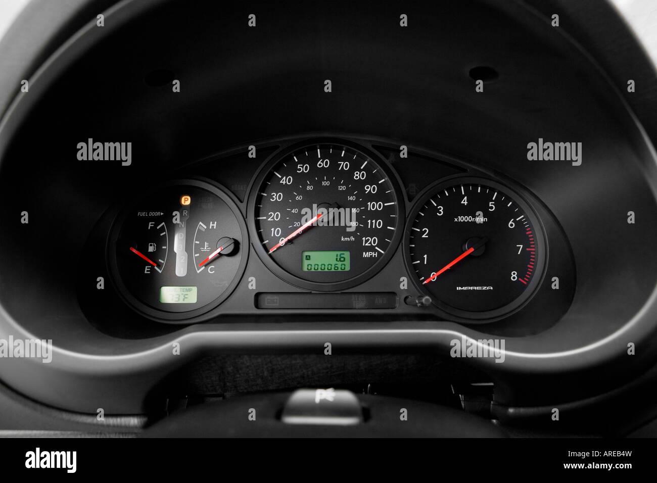 2006 subaru impreza 2.5i in gray - speedometer/tachometer stock