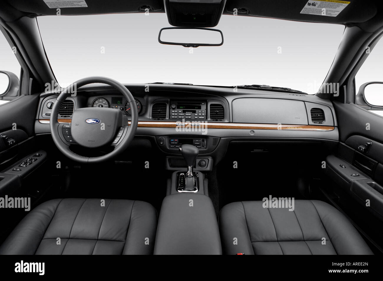 2006 ford crown victoria lx sport in gray dashboard center stock photo royalty free image. Black Bedroom Furniture Sets. Home Design Ideas