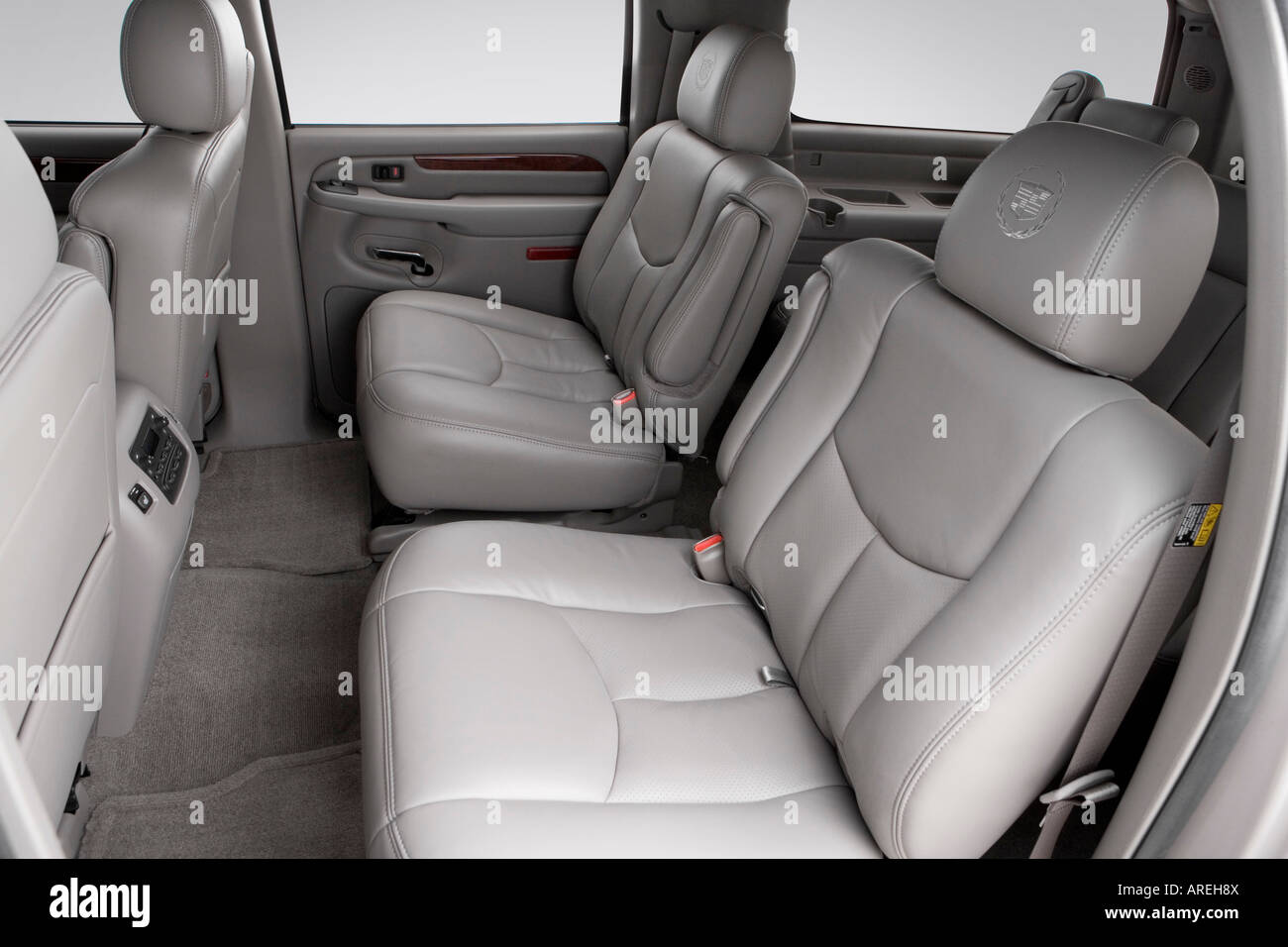 2006 cadillac escalade esv in silver rear seats stock photo