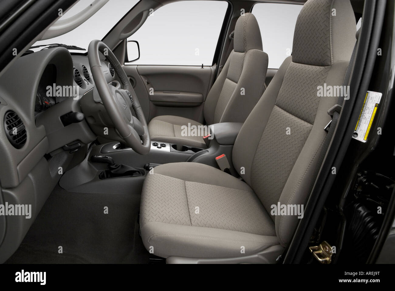 2006 jeep liberty renegade in beige - front seats stock photo