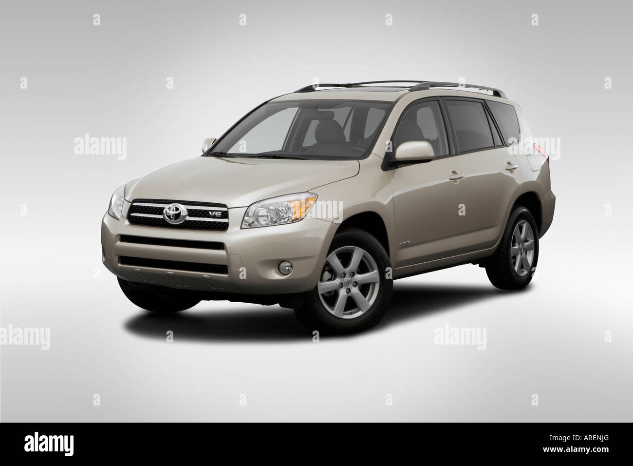 2006 toyota rav4 limited in beige front angle view stock photo