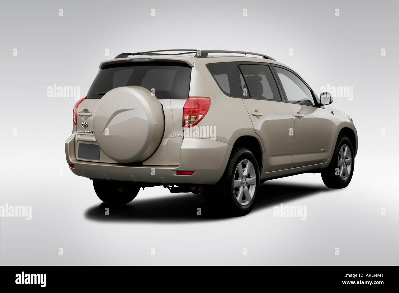 2006 toyota rav4 limited in beige rear angle view stock photo royalty free image 16032263. Black Bedroom Furniture Sets. Home Design Ideas