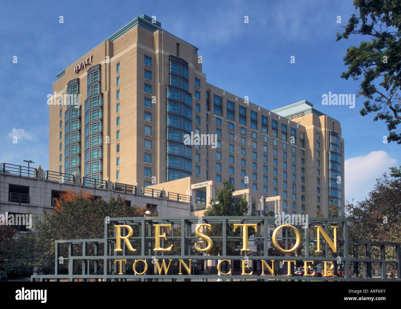 hyatt regency reston hotel in reston virginia usa stock