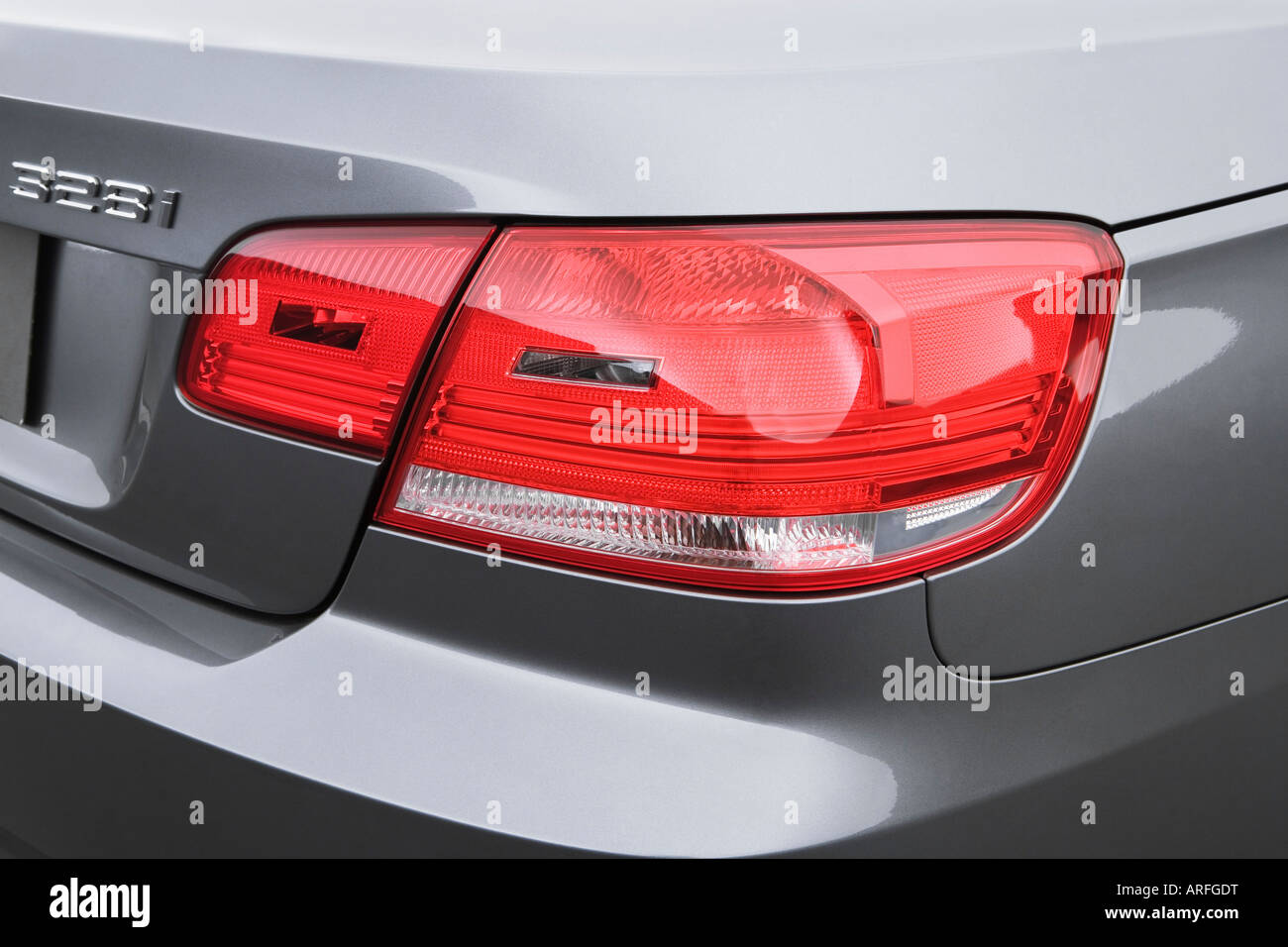 2007 bmw 3 series 328i in gray tail light stock photo. Black Bedroom Furniture Sets. Home Design Ideas