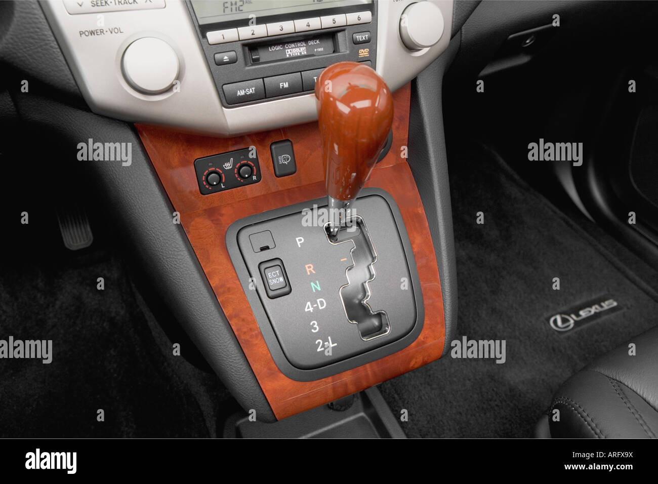 2008 lexus rx 350 in red gear shifter center console