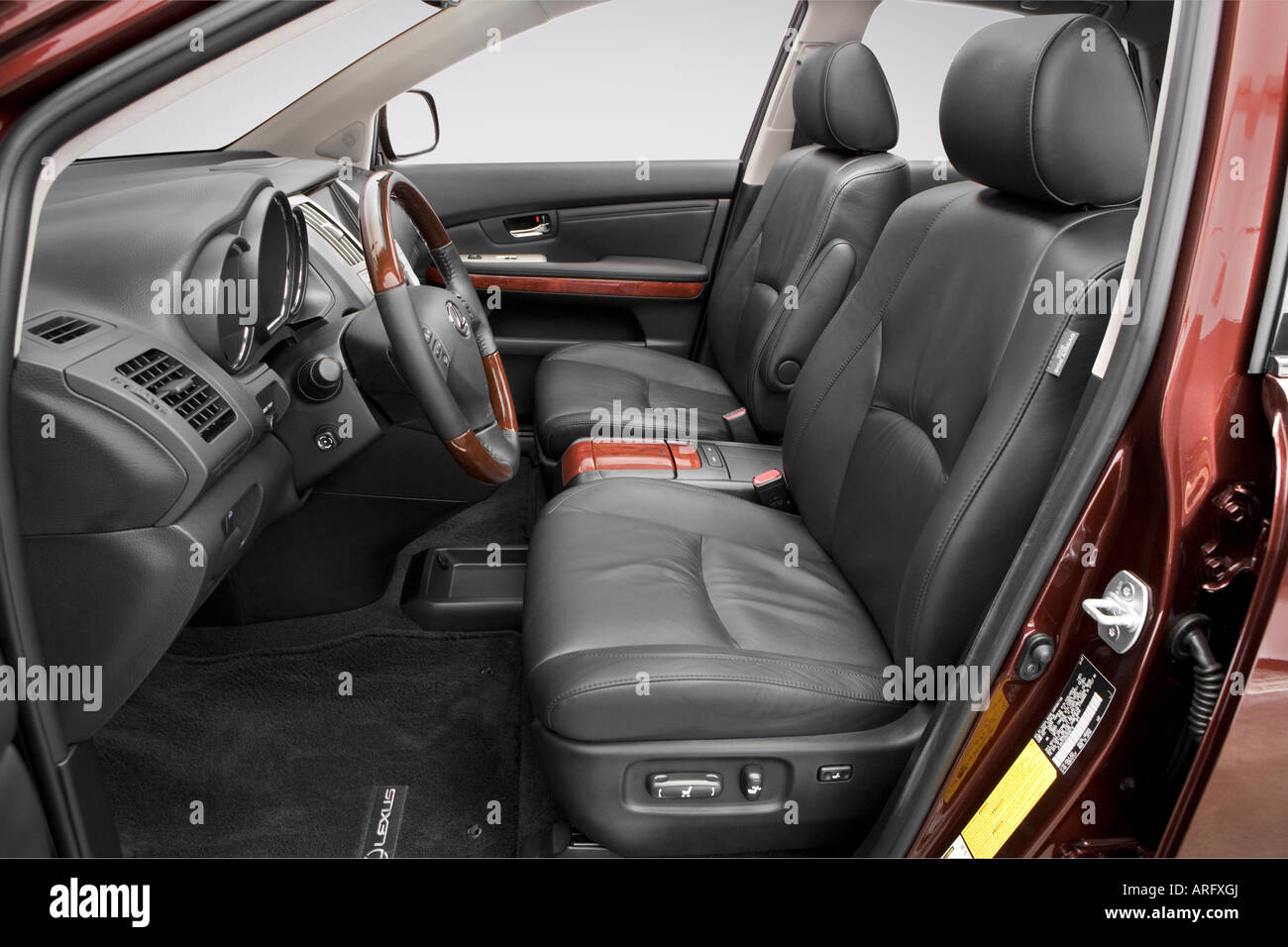 2008 lexus rx 350 in red front seats stock image