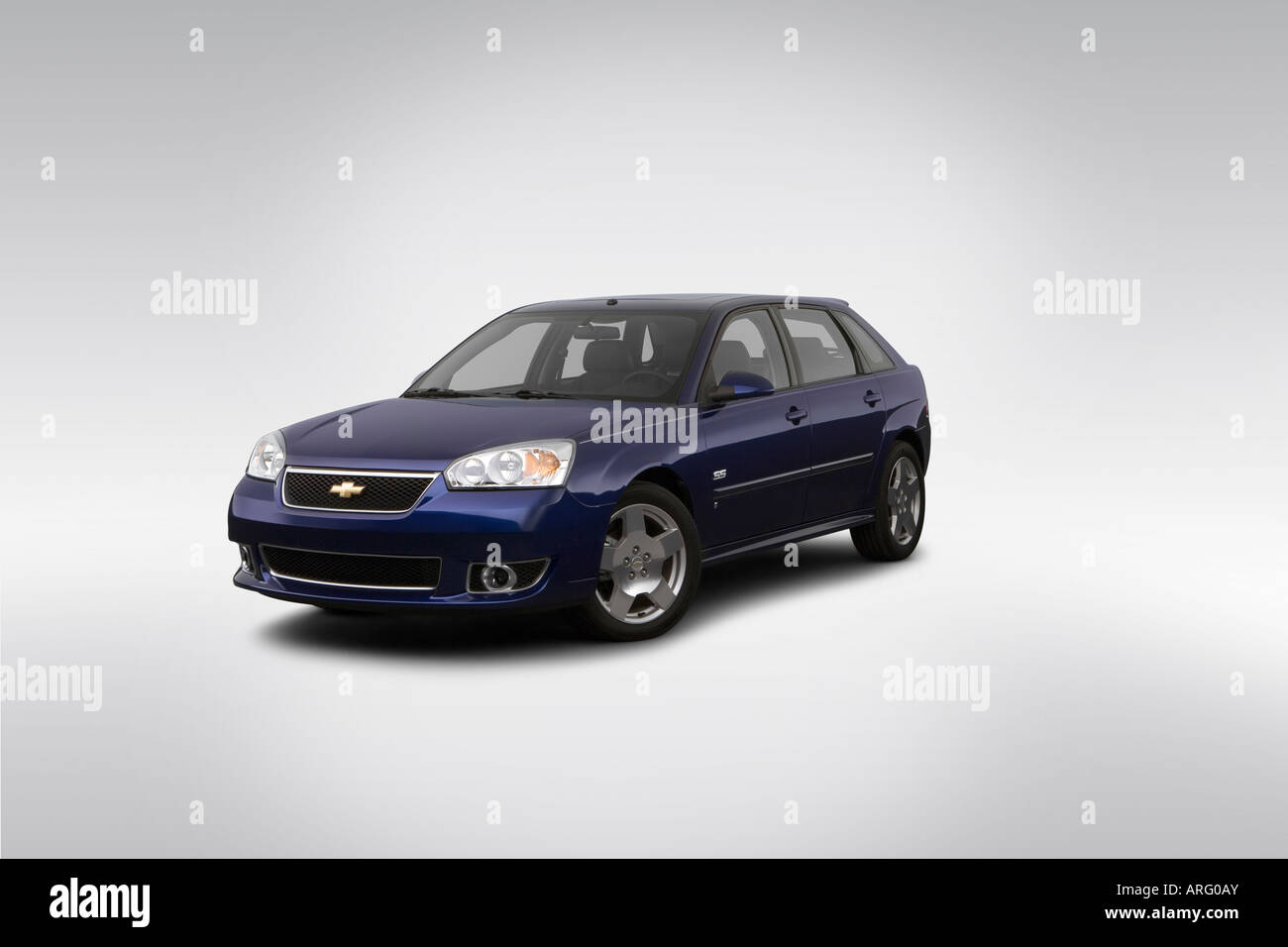 2007 Chevrolet Malibu Maxx SS in Blue  Front angle view Stock