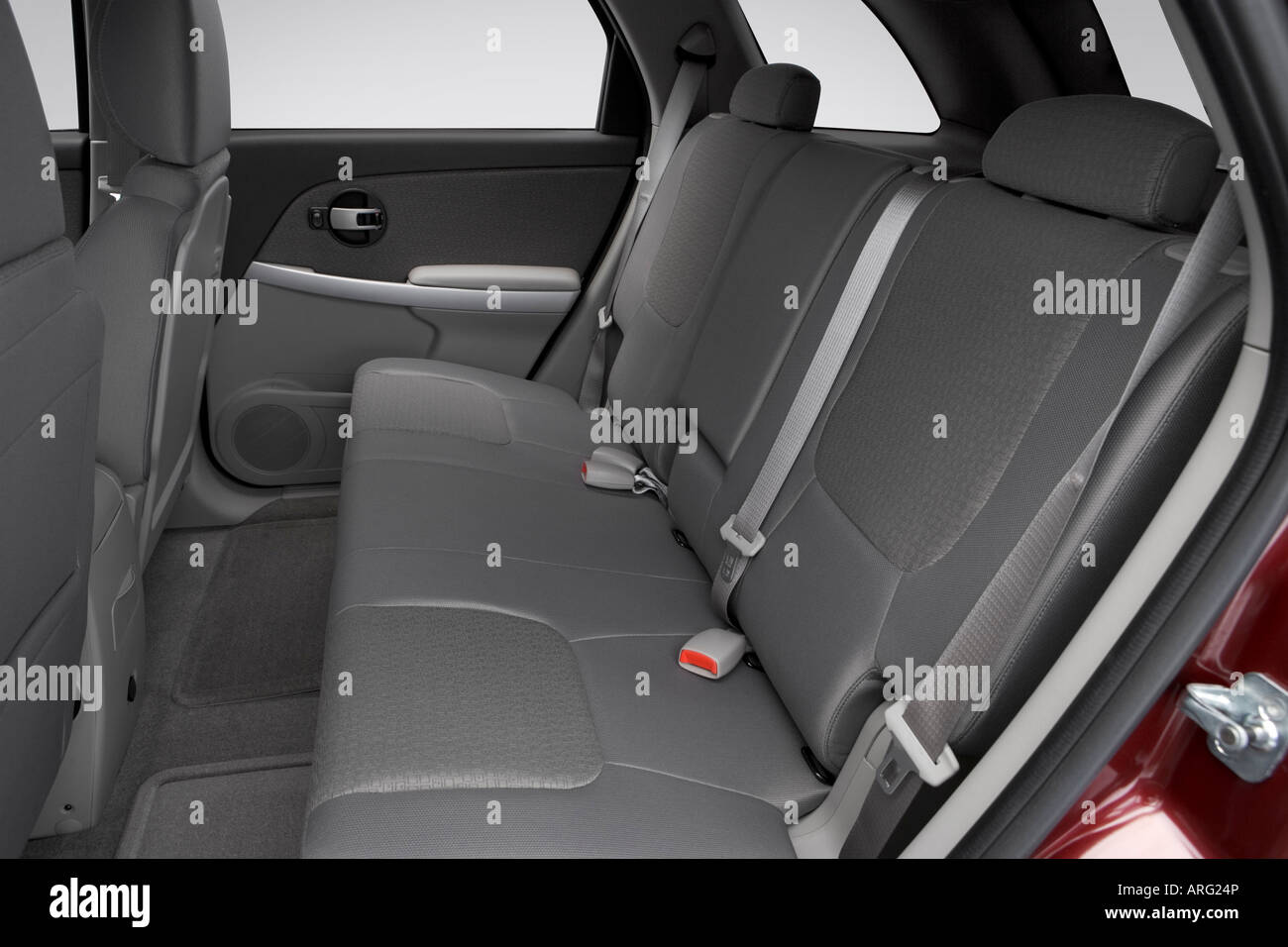 2007 chevrolet equinox lt in red - rear seats stock photo, royalty