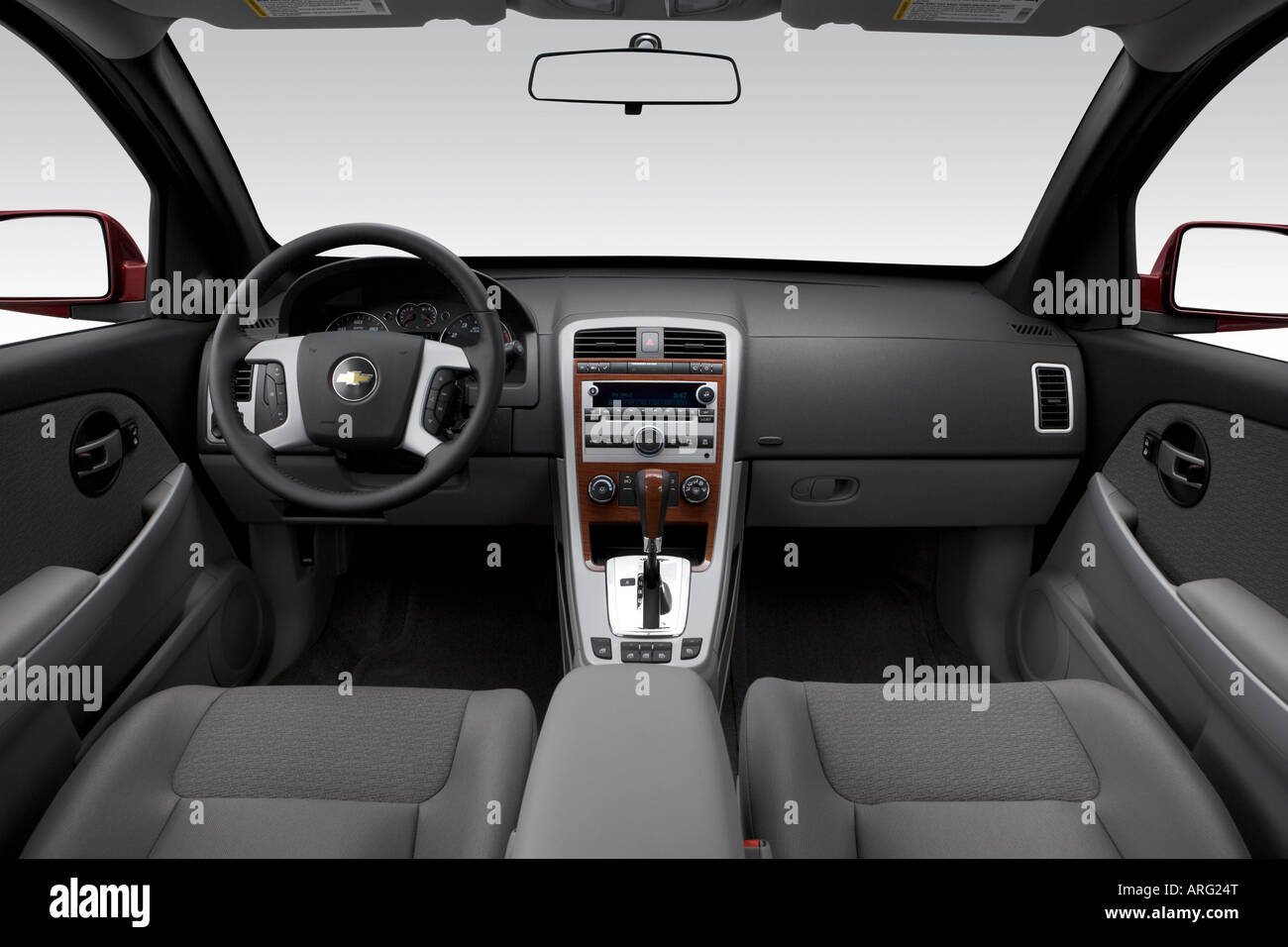 2007 chevrolet equinox lt in red - dashboard, center console, gear