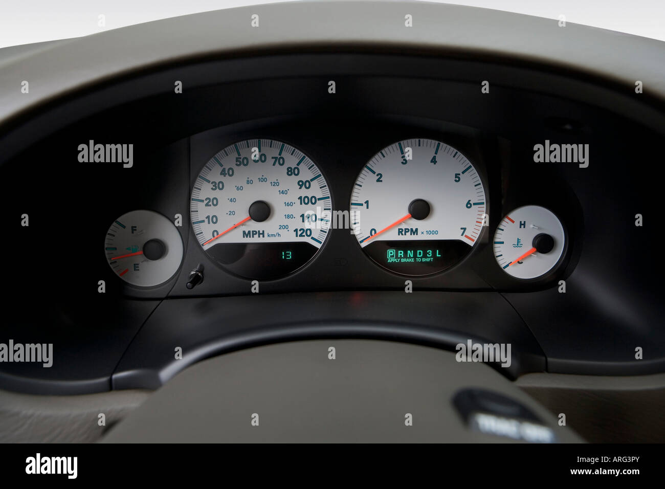 2007 dodge grand caravan sxt in green speedometer tachometer