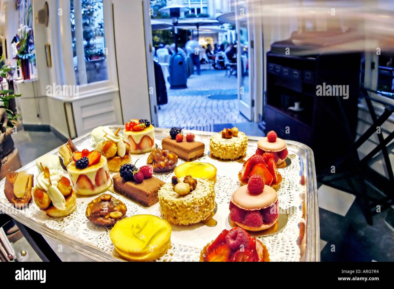 Paris france contemporary french restaurant la terrasse du parc at stock photo royalty free - Restaurant la terrasse paris ...