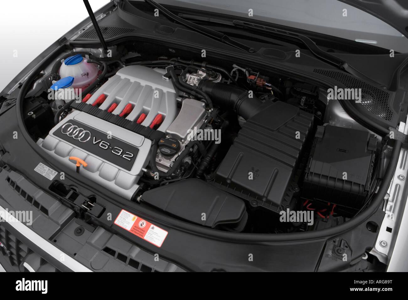 2007 audi a3 3 2 quattro in silver engine