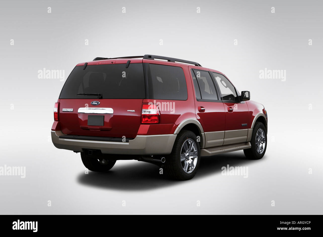 2007 ford expedition eddie bauer in red rear angle view stock photo royalty free image. Black Bedroom Furniture Sets. Home Design Ideas