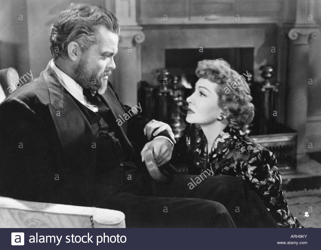 Claudette Colbert and orson welles