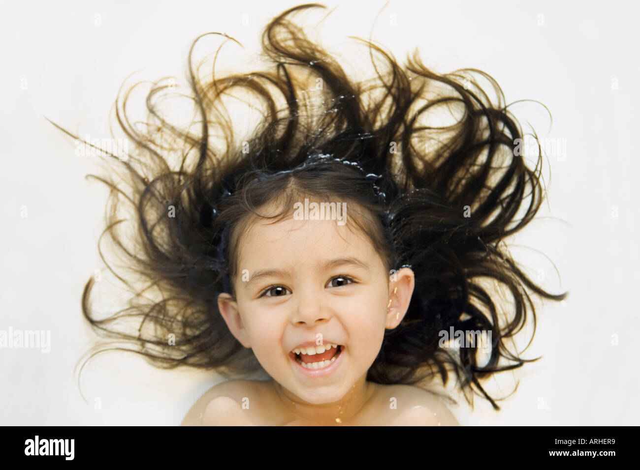 girl in bath with hair floating in water stock photo royalty free image 9176056 alamy. Black Bedroom Furniture Sets. Home Design Ideas