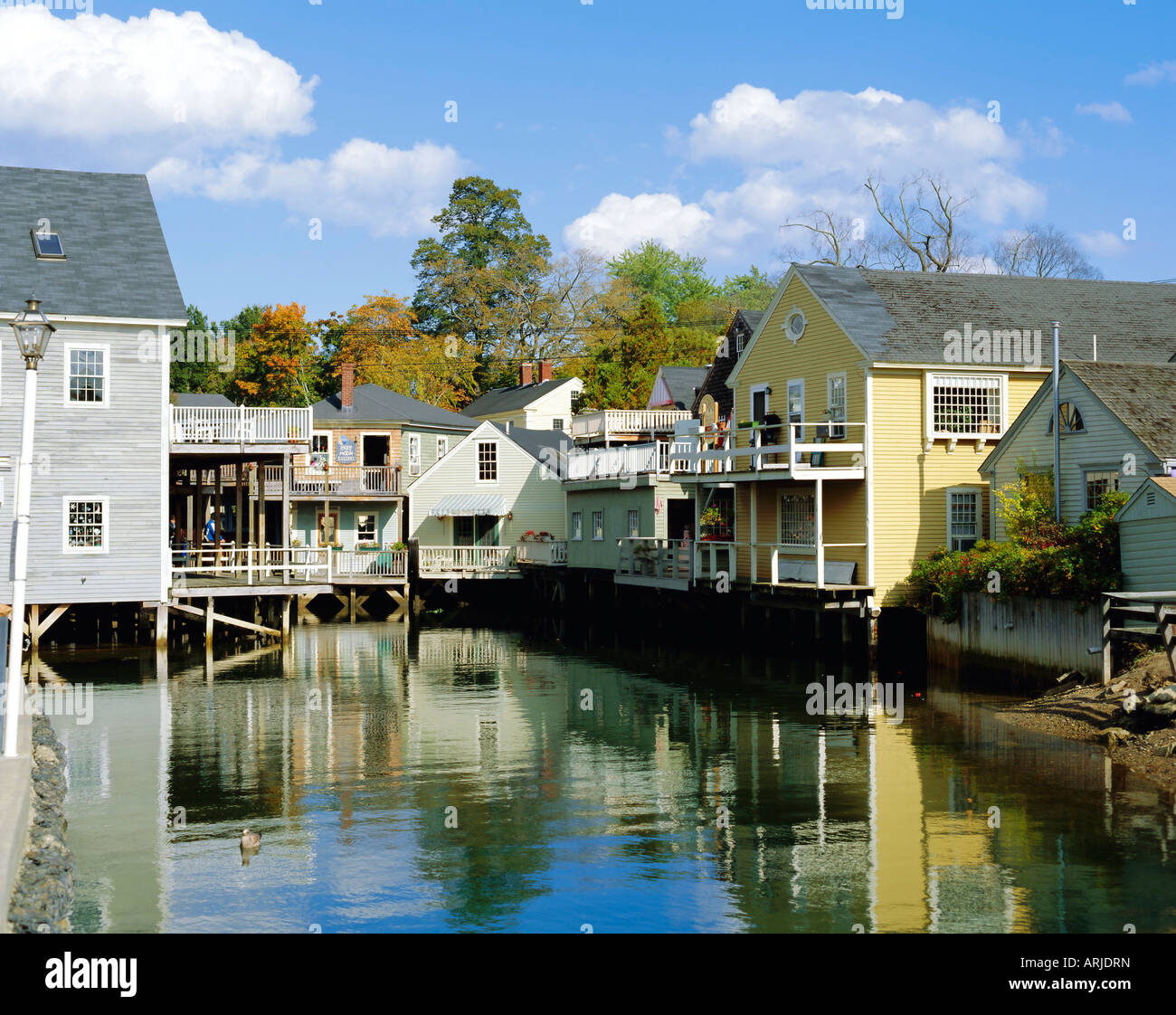 The Beach House Inn Kennebunkport Maine: Kennebunkport, Maine, New England, USA Stock Photo