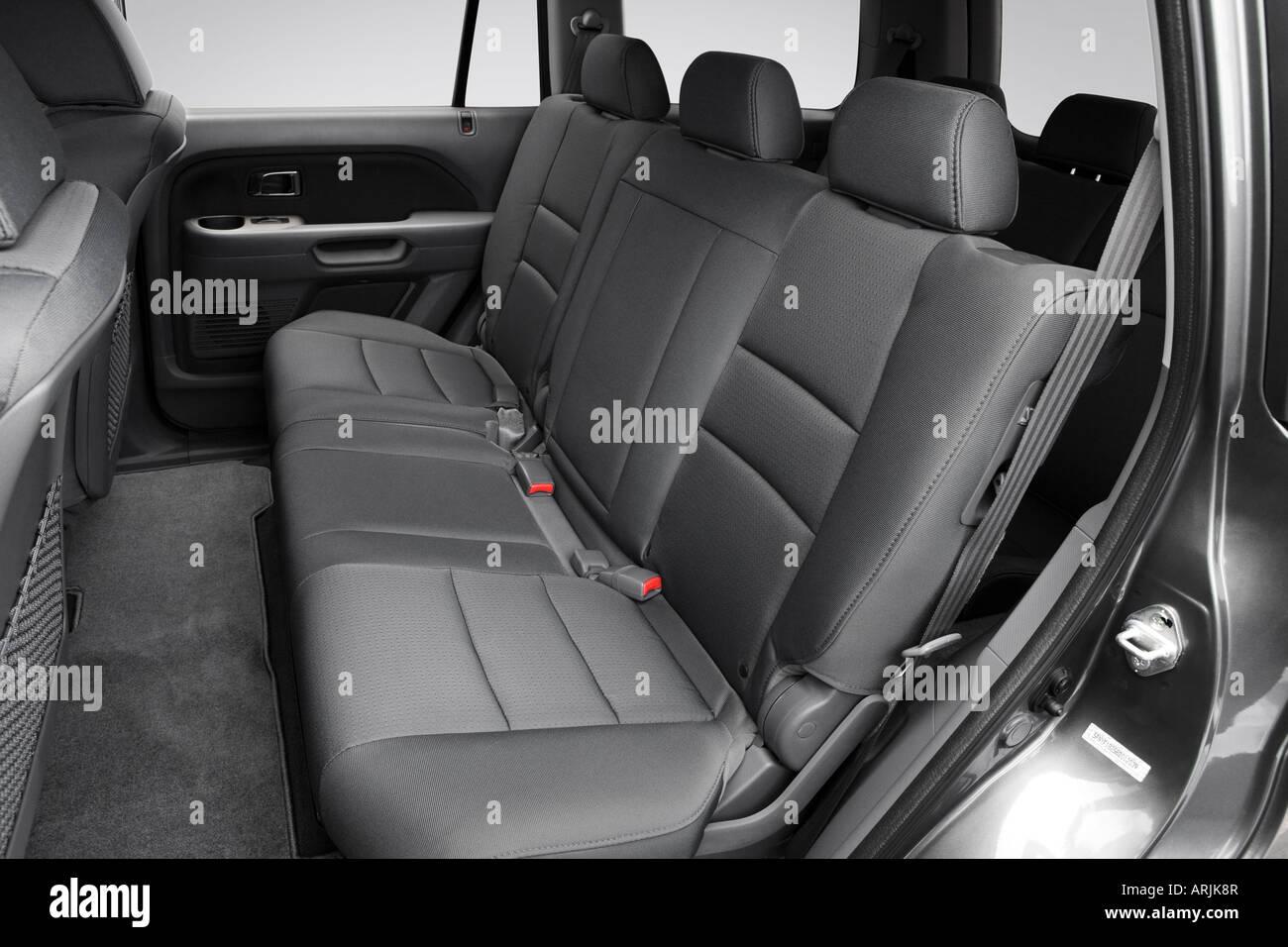 2008 honda pilot vp in gray rear seats stock photo for Honda pilot seating